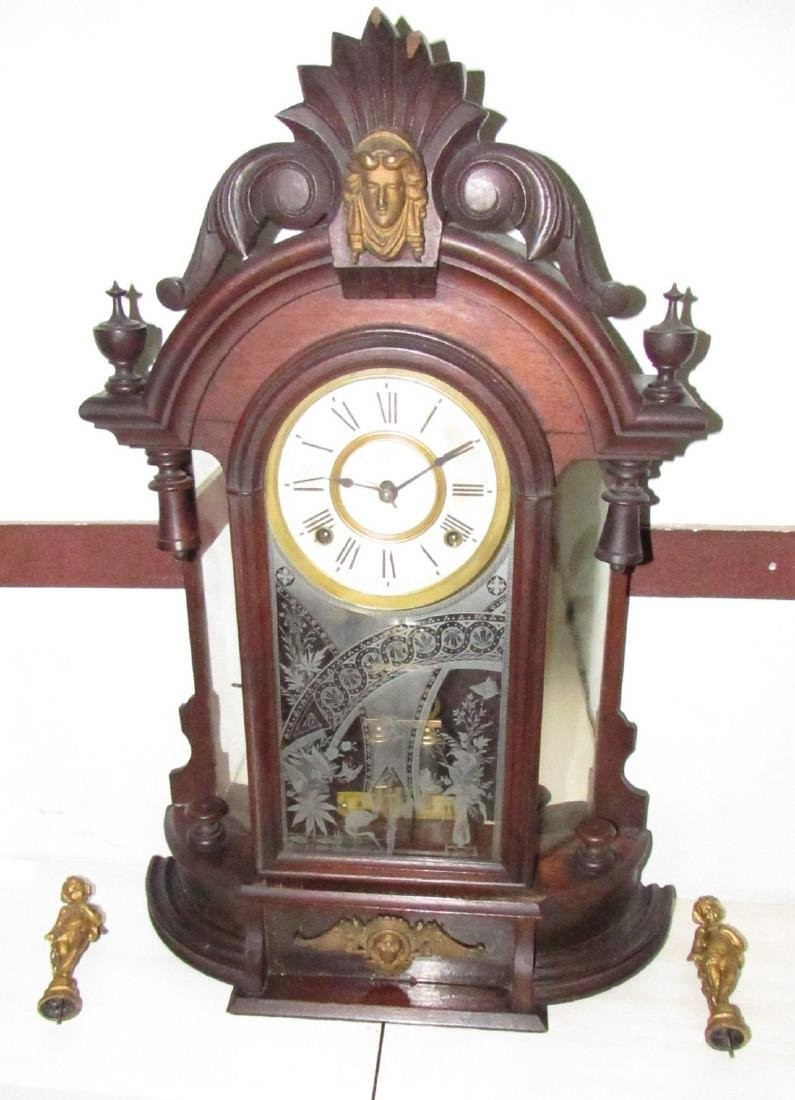 Antique Figural Mantle Clock - 4