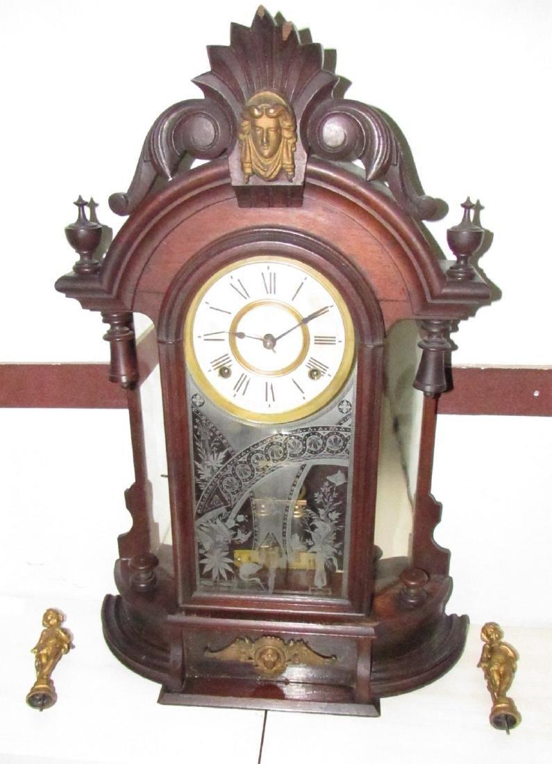Antique Figural Mantle Clock - 4