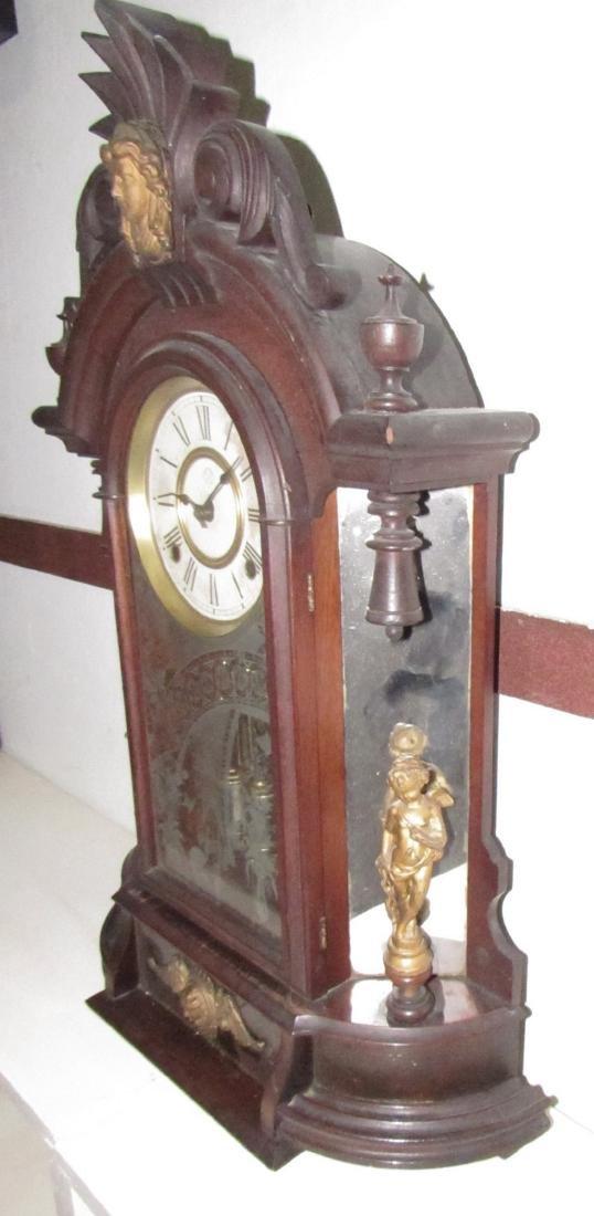 Antique Figural Mantle Clock - 5