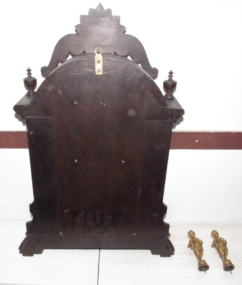 Antique Figural Mantle Clock - 7