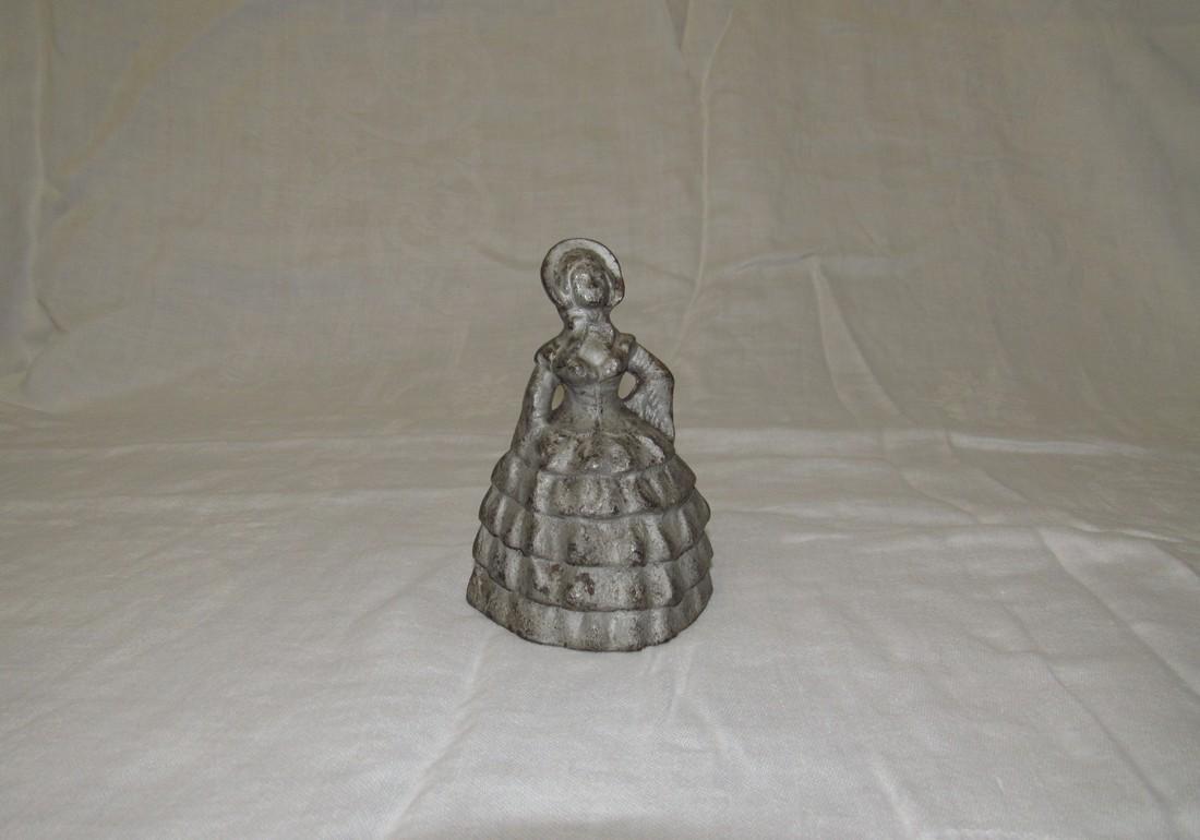 Cast Iron Victorian Woman Figure