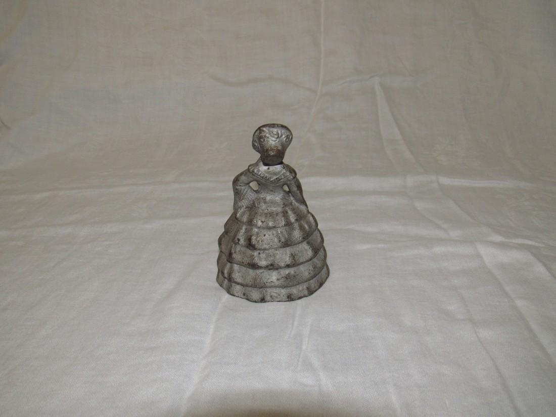 Cast Iron Victorian Woman Figure - 2