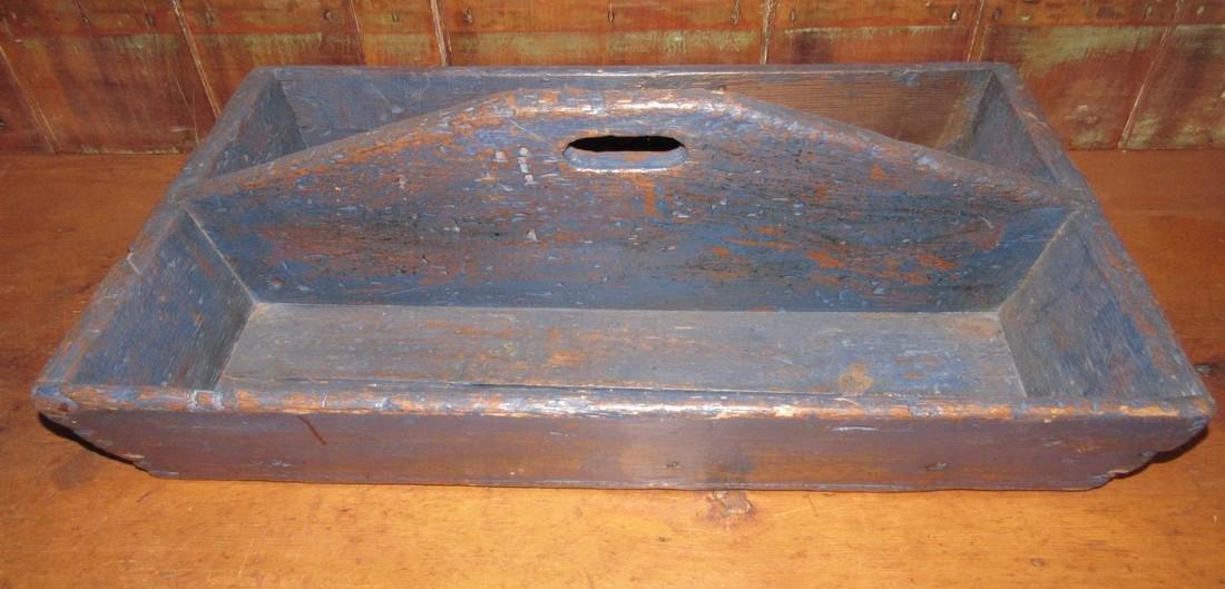 Blue Paint Wood Tote - 2
