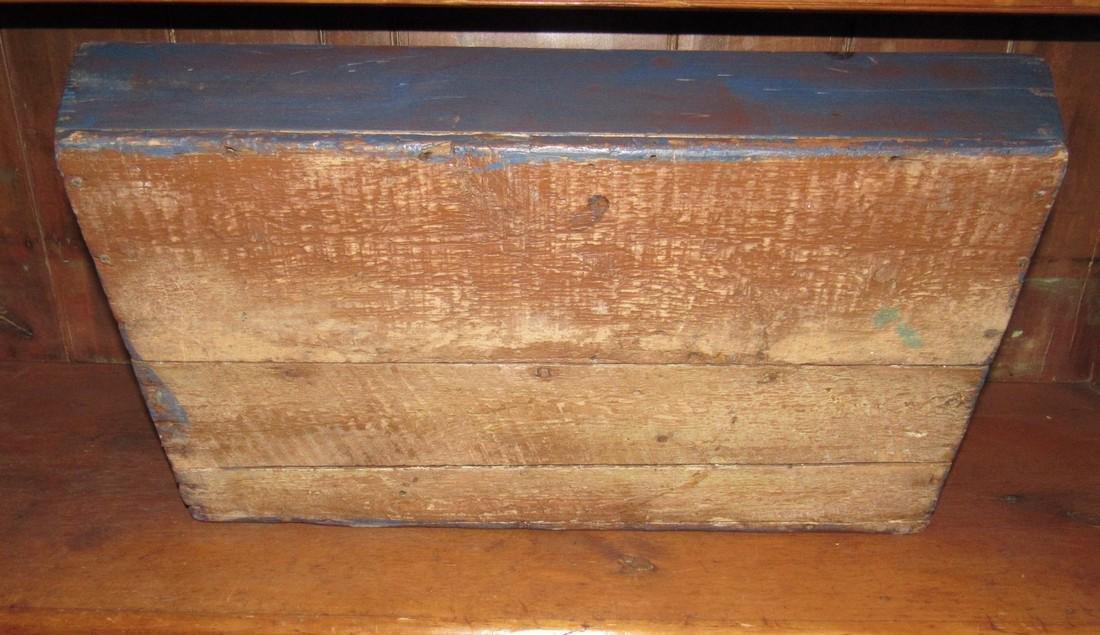 Blue Paint Wood Tote - 4