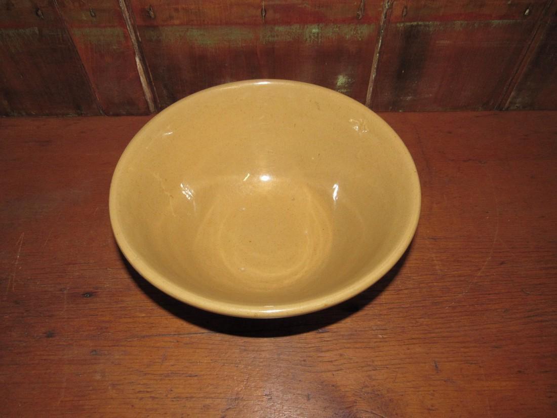 Yellow ware Mixing Bowl - 2