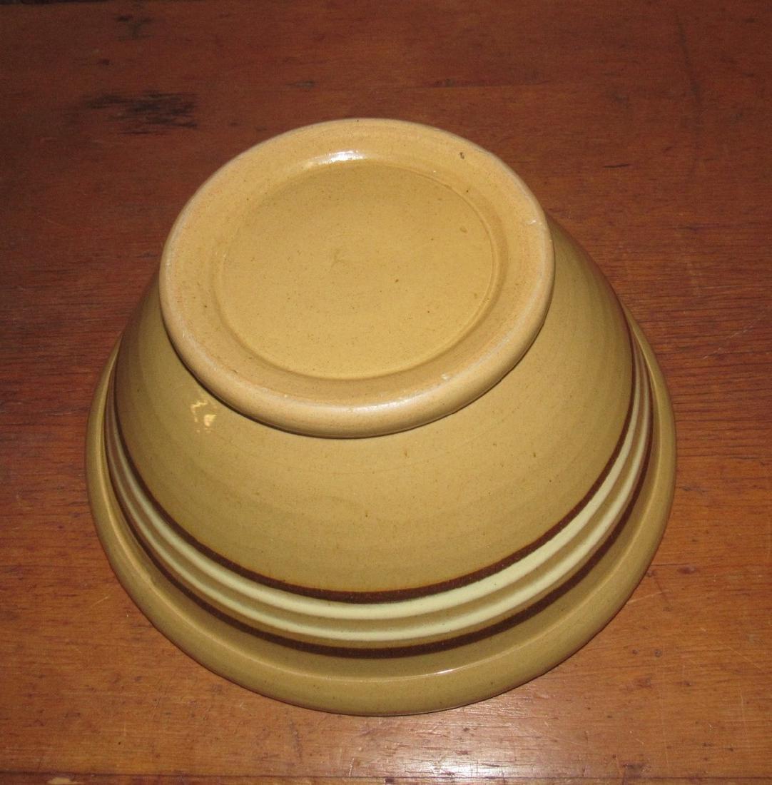 Yellow ware Mixing Bowl - 3