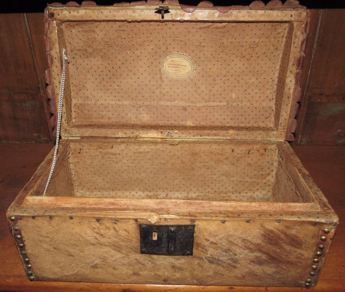Curtis & Coolidge Leather Trunk - 5