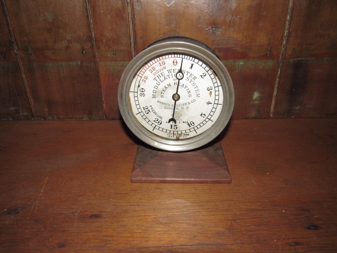 1889 Webster Steam Heating Gauge