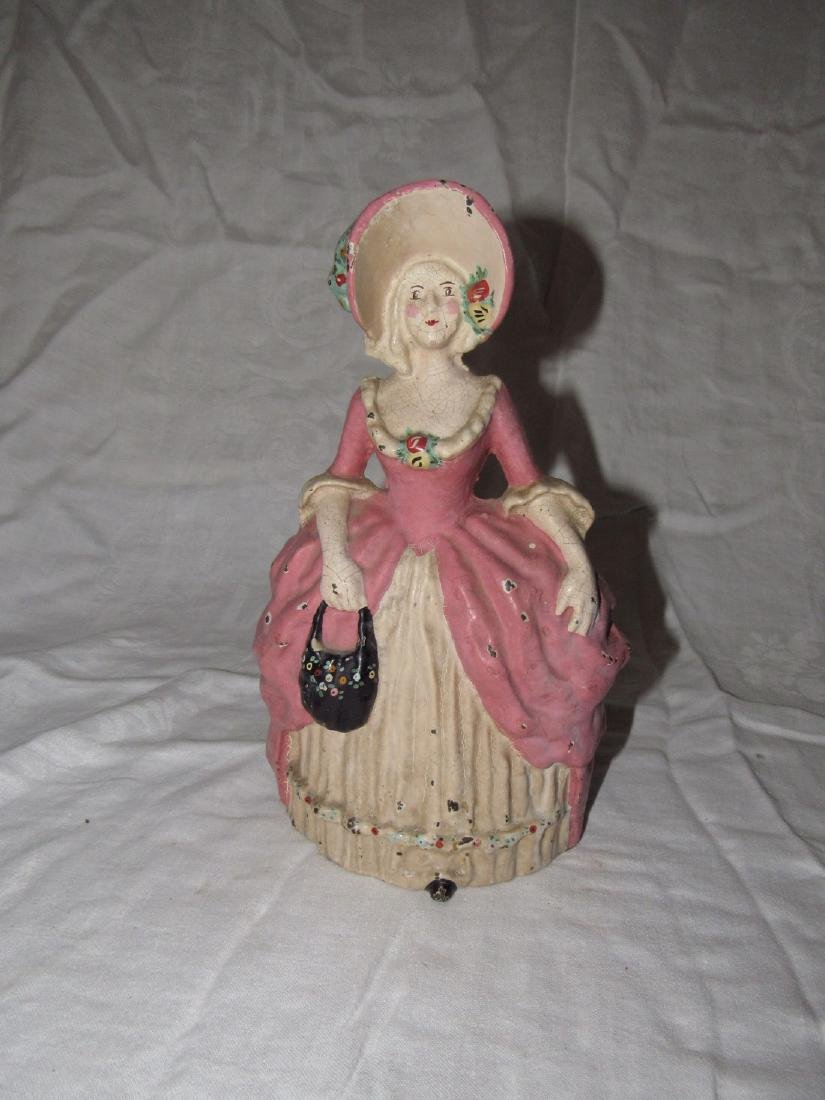 Cast Iron Victorian Woman Door Stop