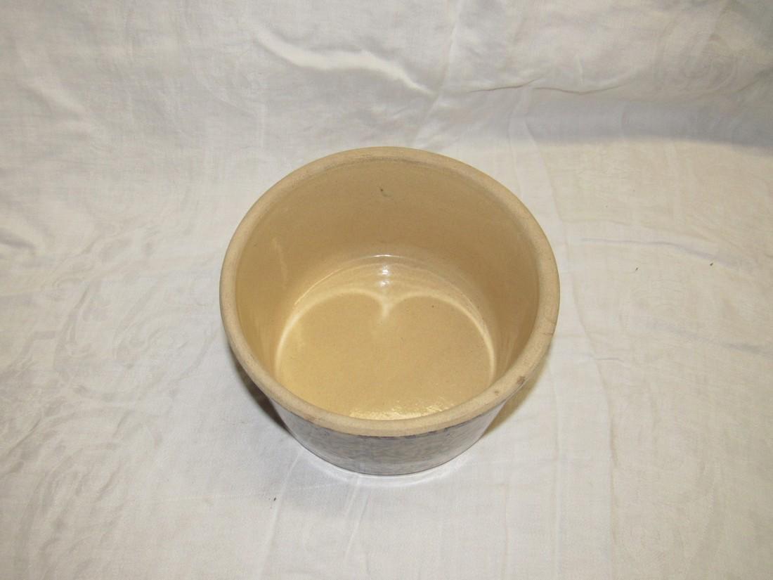RRP Spongeware Roseville Butter Crock - 2