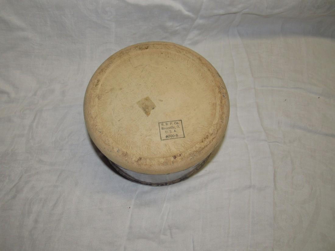 RRP Spongeware Roseville Butter Crock - 3