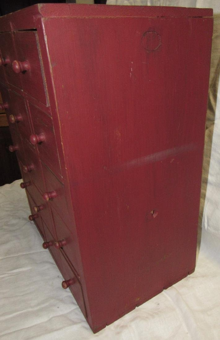 15 Drawer Red Painted Apothecary Chest - 4