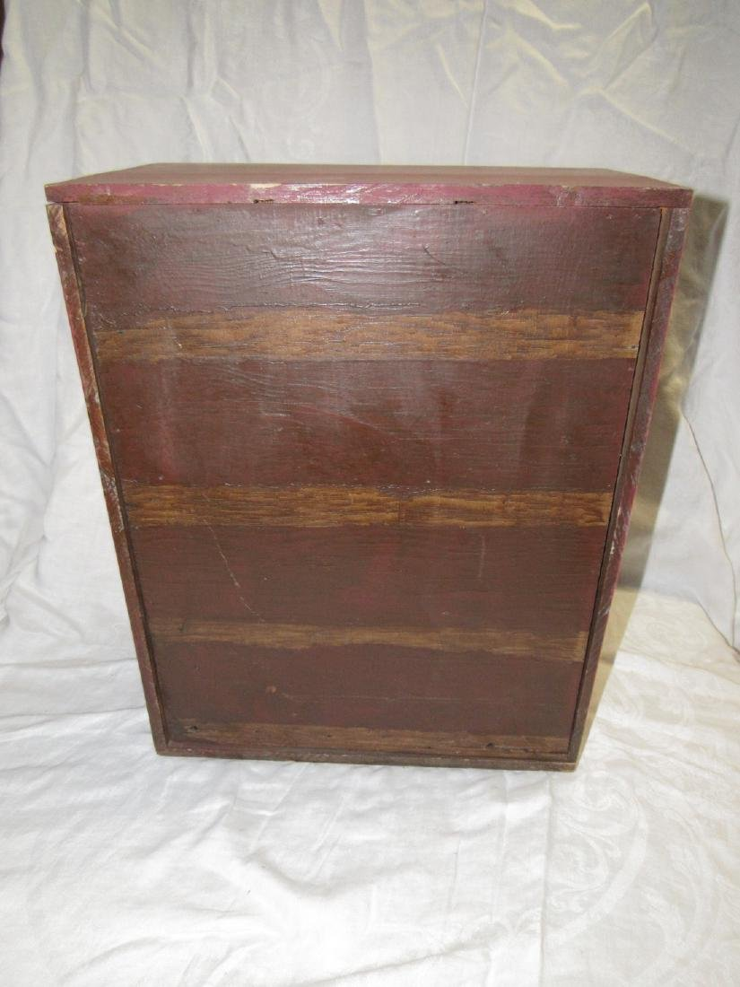 15 Drawer Red Painted Apothecary Chest - 5