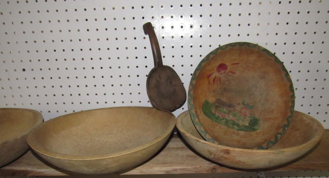 4 Wooden Mixing Bowls and Butter Ladle - 2