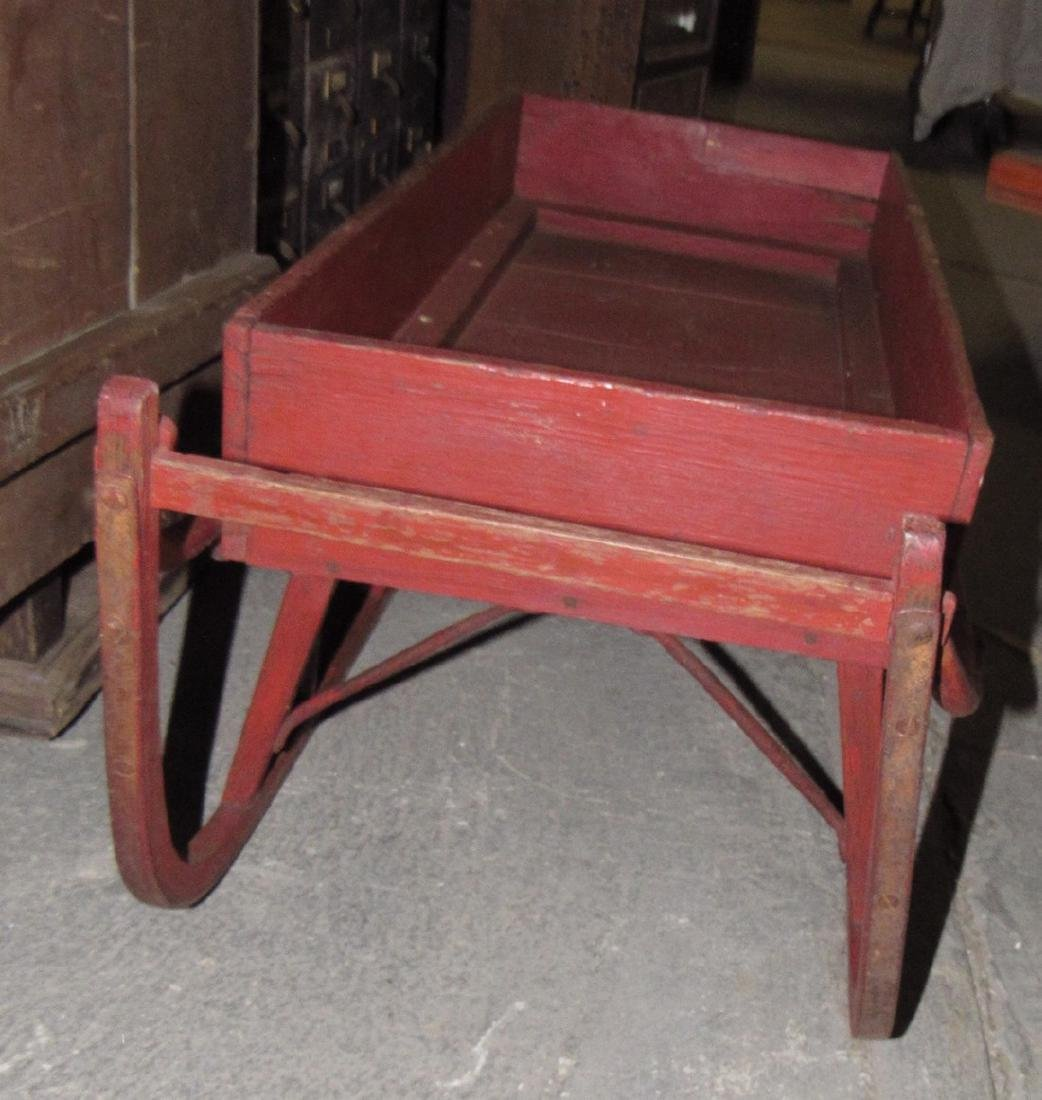 Early Red Painted Sleigh - 3