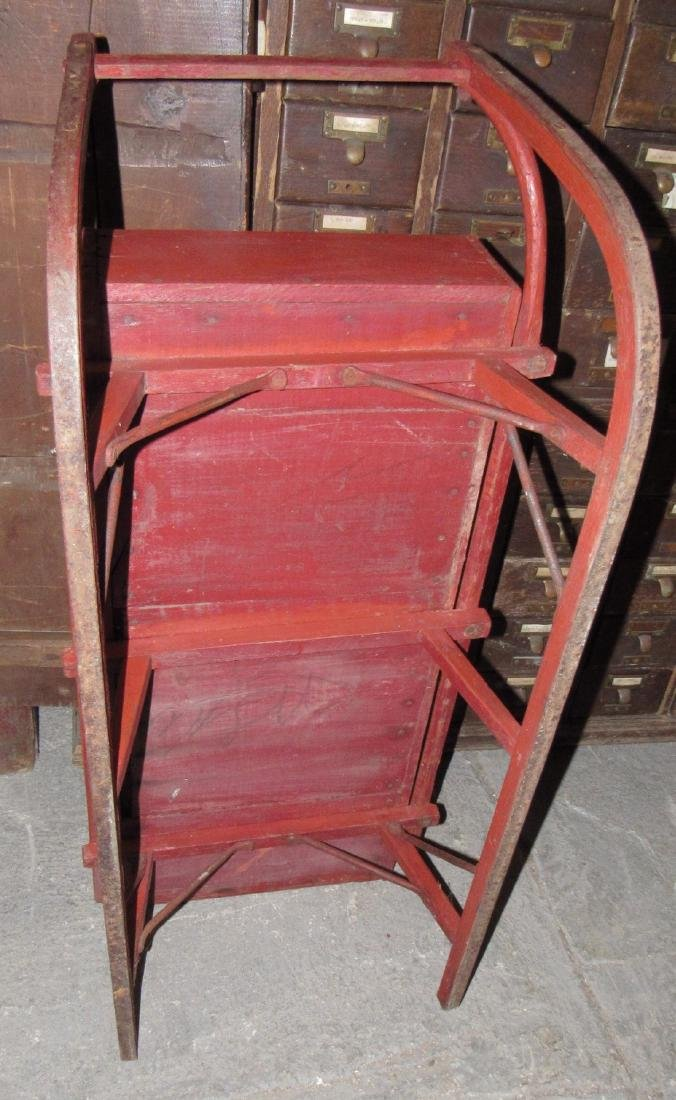 Early Red Painted Sleigh - 4
