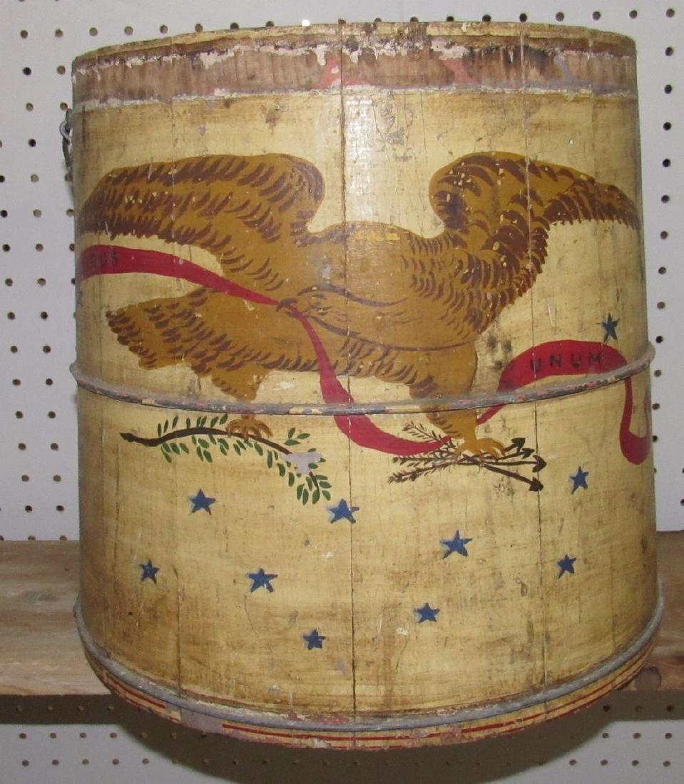 Eagle Paint Decorated Wooden Tub