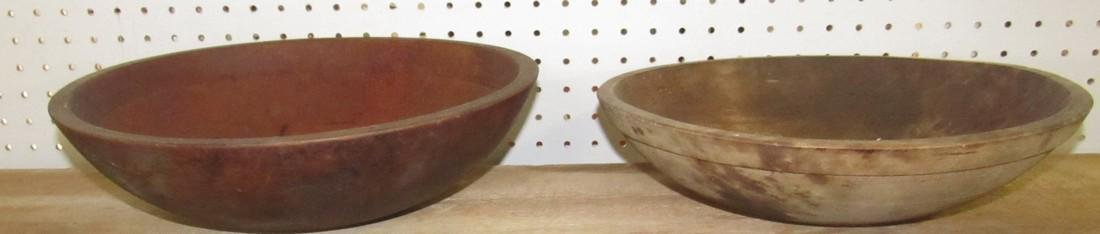 2 Wooden Mixing Bowls