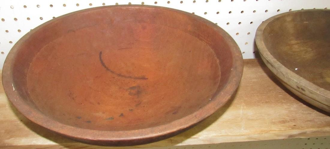 2 Wooden Mixing Bowls - 2