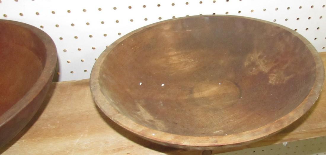 2 Wooden Mixing Bowls - 3
