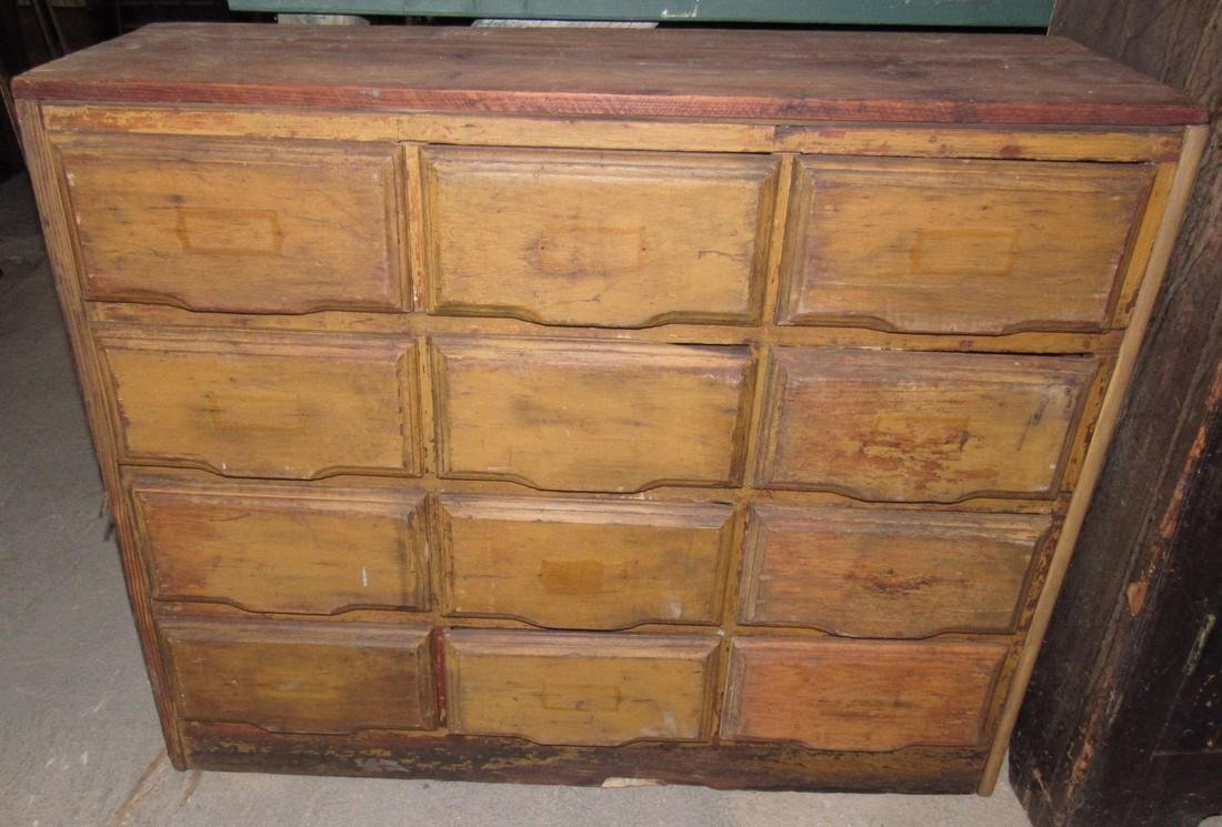 12 Drawer Apothecary Cabinet