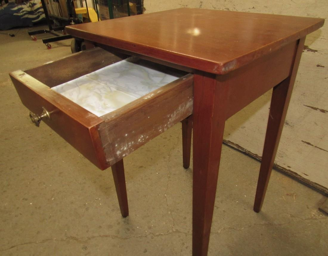 One Drawer Stand w/ Tapered Legs - 3