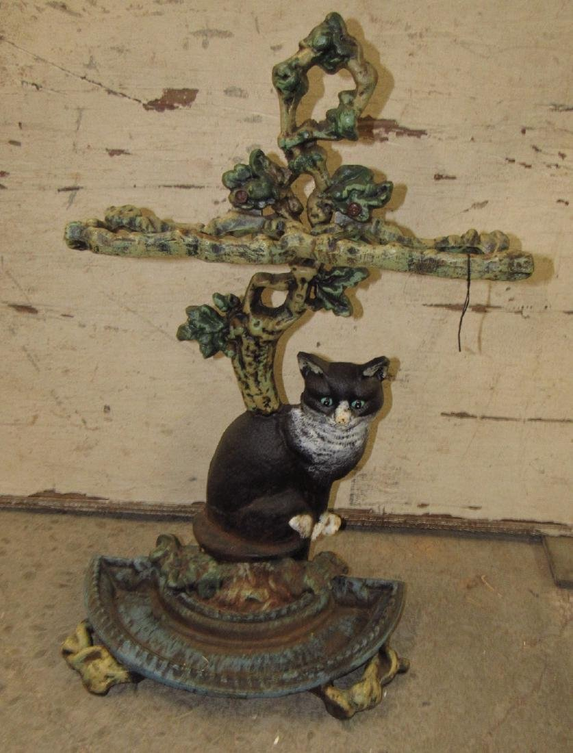 Cast Iron Cat Umbrella Stand