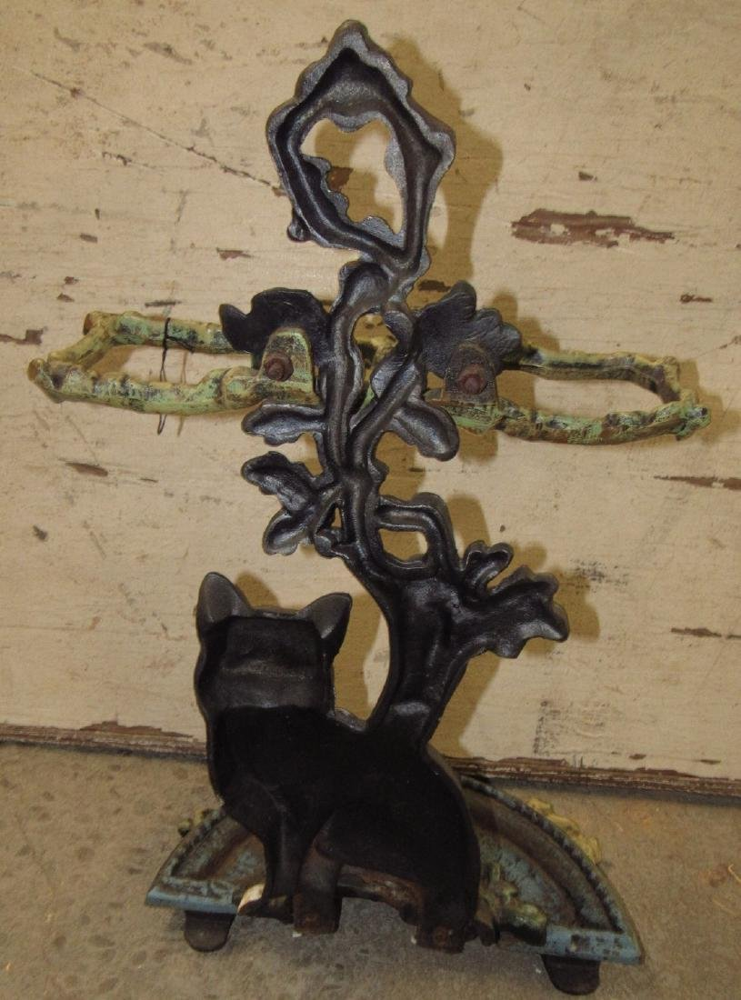 Cast Iron Cat Umbrella Stand - 3