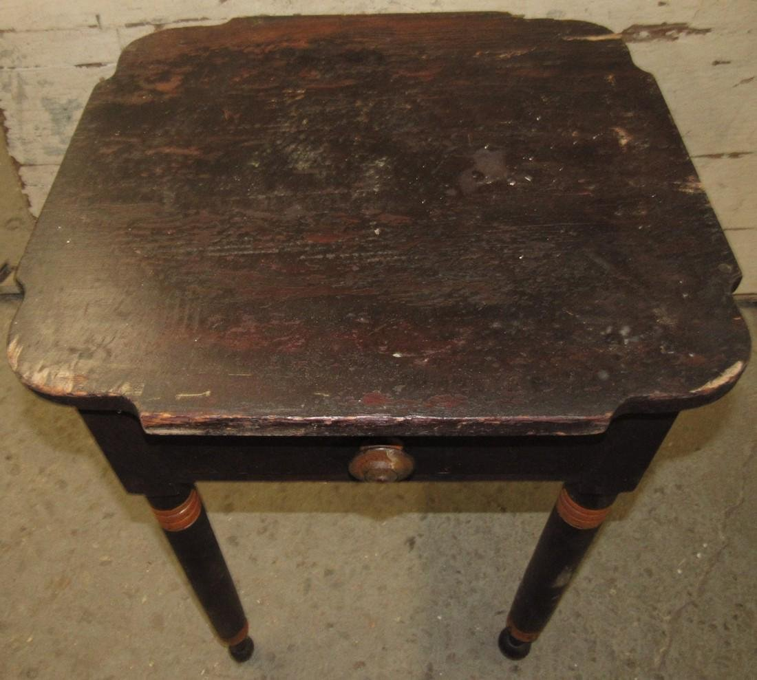 One Drawer Stand w/ Scalloped Top - 2