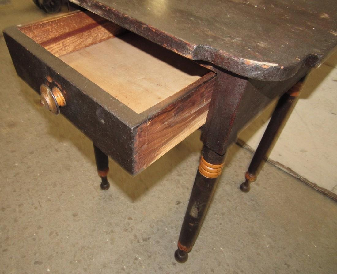 One Drawer Stand w/ Scalloped Top - 3