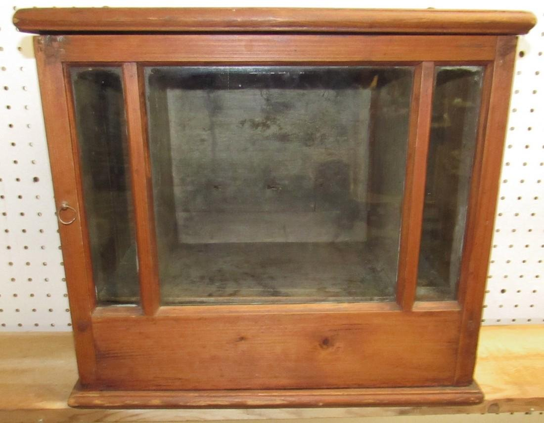 Early Hanging Display Cupboard w/ Dovetailed Case