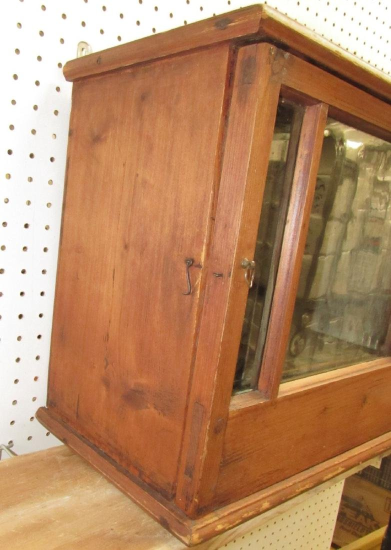 Early Hanging Display Cupboard w/ Dovetailed Case - 2