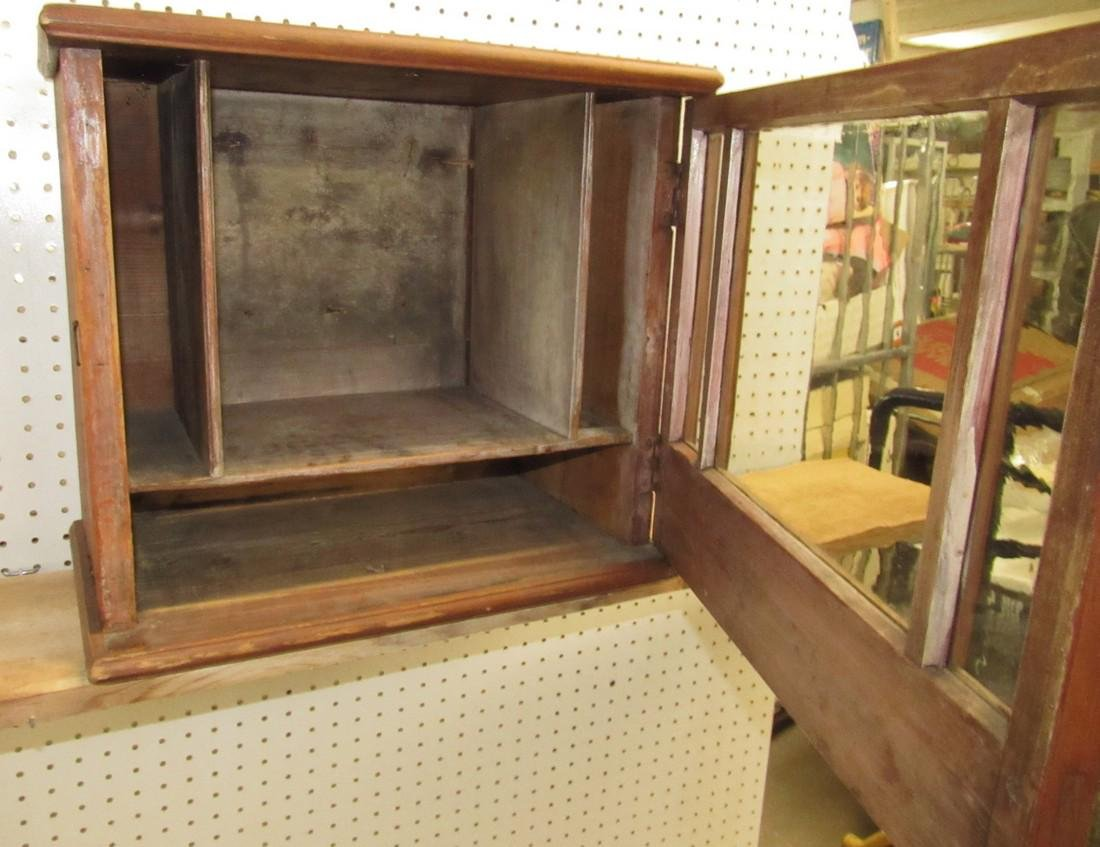 Early Hanging Display Cupboard w/ Dovetailed Case - 4