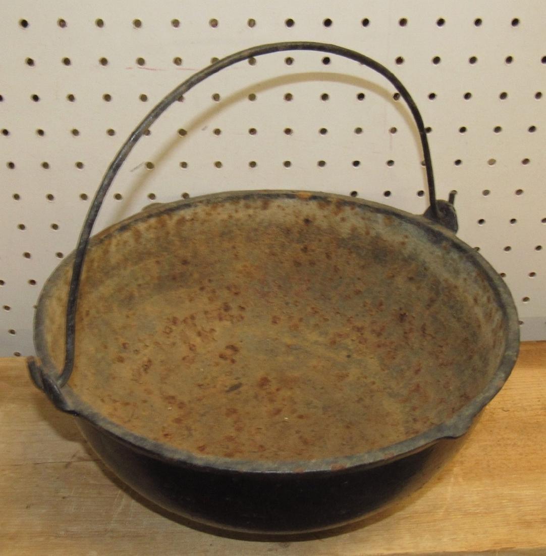 Cast Iron Scotch Bowl Kettle - 2