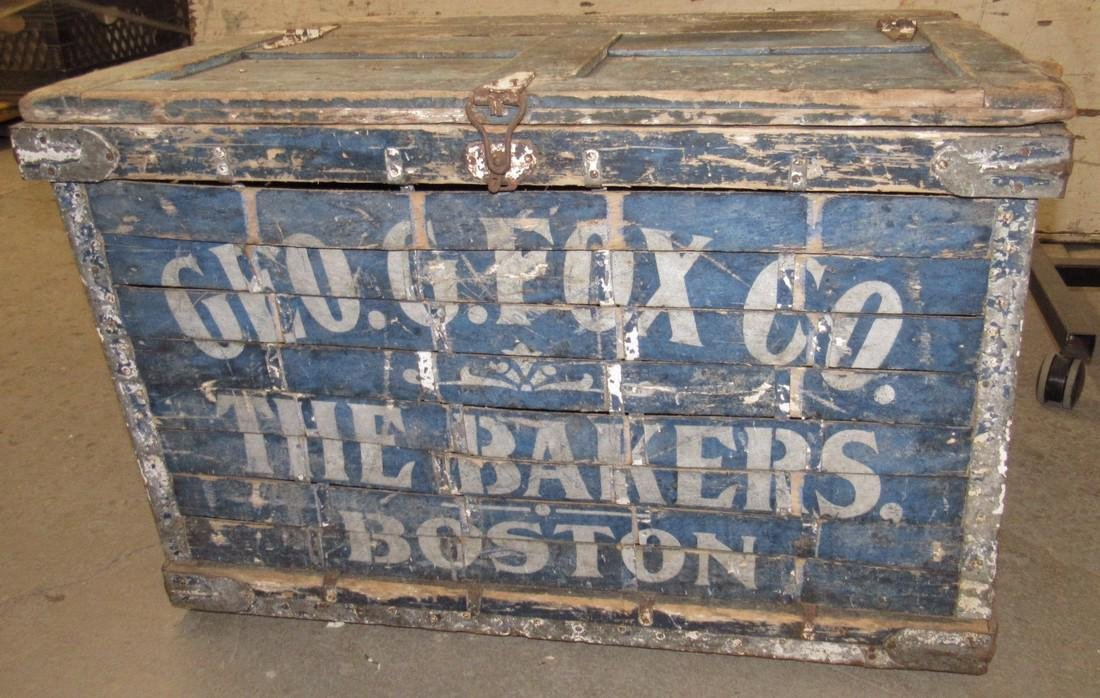 Geo Fox Bakers Boston Wood Shipping Box