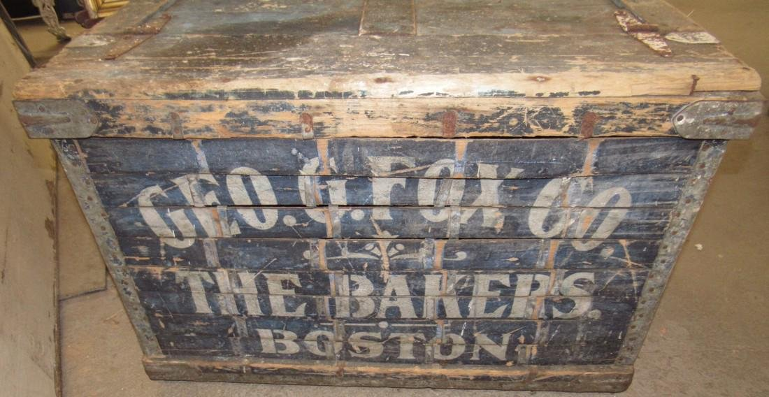 Geo Fox Bakers Boston Wood Shipping Box - 5