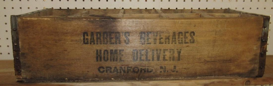 Garber's Beverage Wooden Bottle Crate