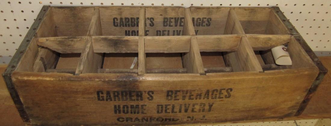 Garber's Beverage Wooden Bottle Crate - 2
