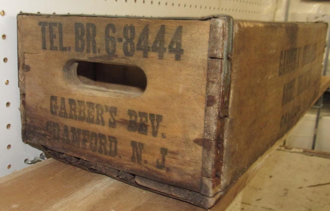 Garber's Beverage Wooden Bottle Crate - 3