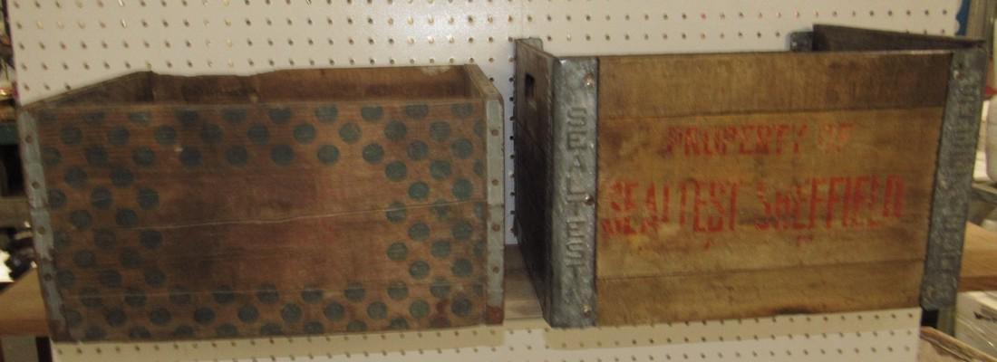 2 Wooden Crates Sealtest