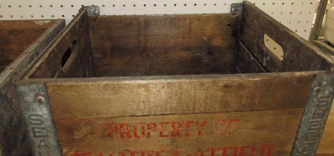 2 Wooden Crates Sealtest - 2