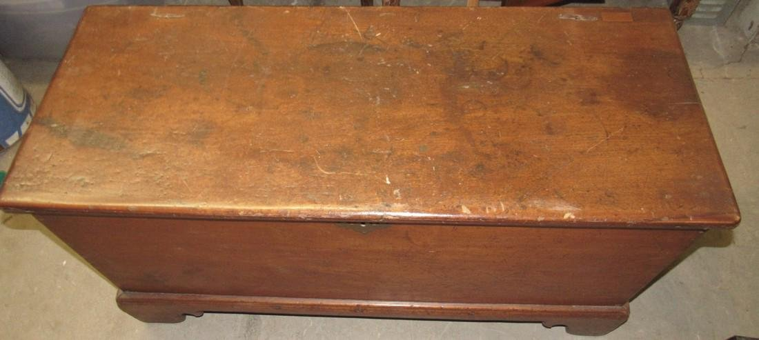 Early Walnut Blanket Chest w/Snipe Hinges - 2