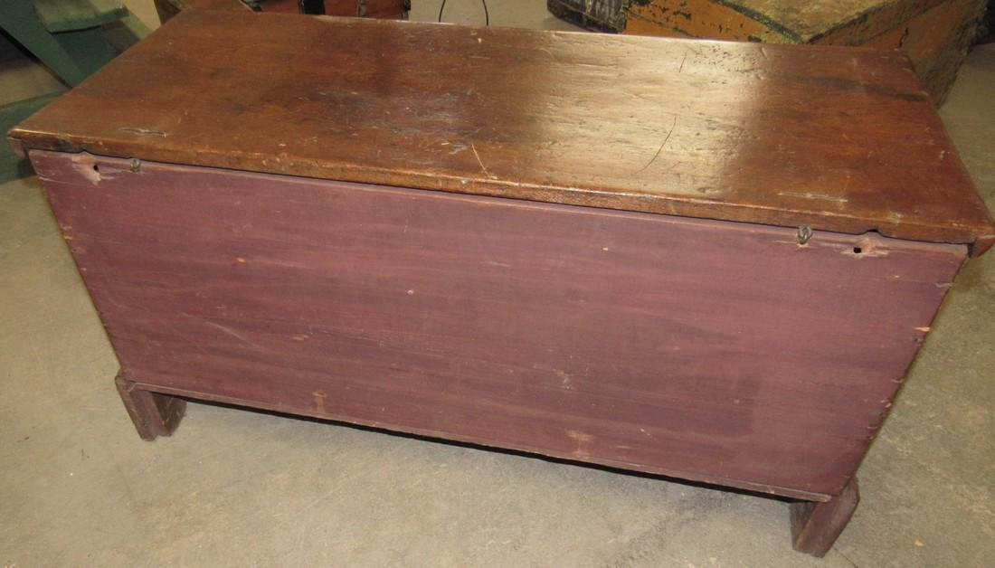 Early Walnut Blanket Chest w/Snipe Hinges - 5