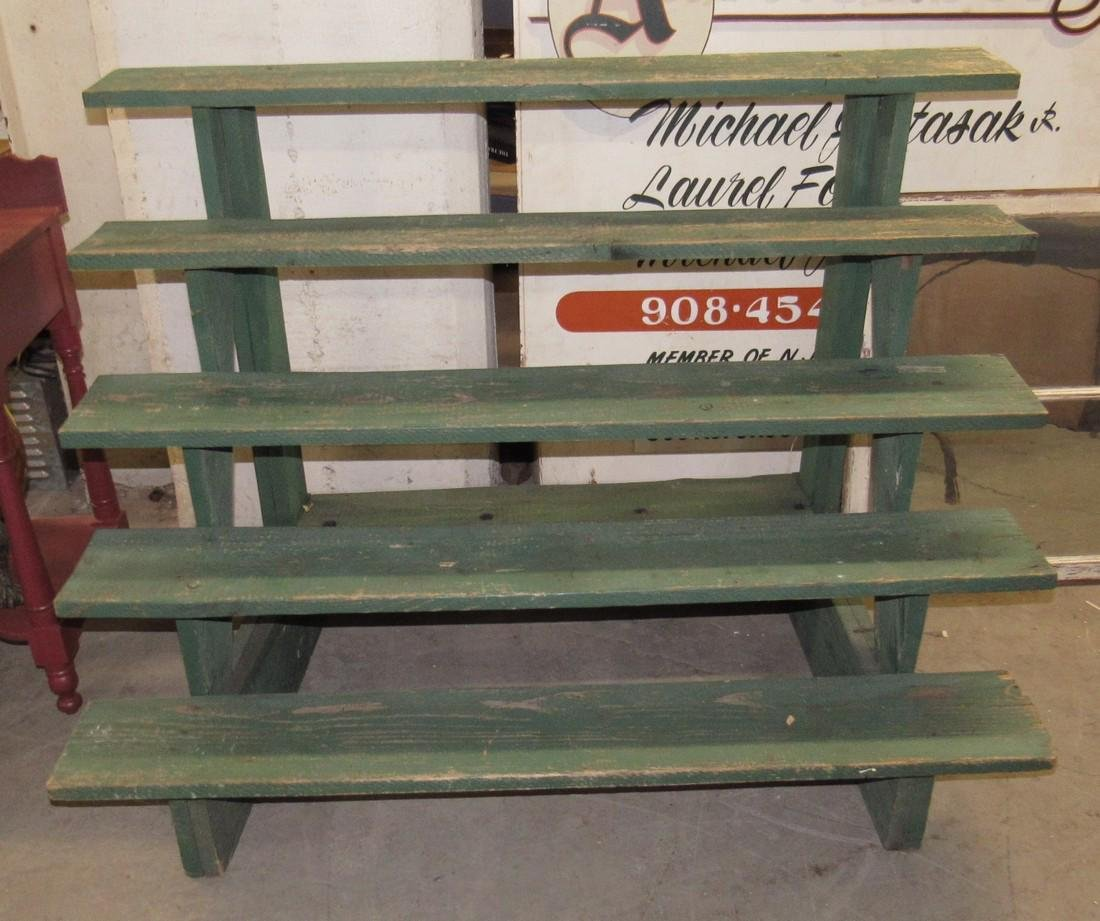 Nice Green Painted 5 Tier Plant Stand