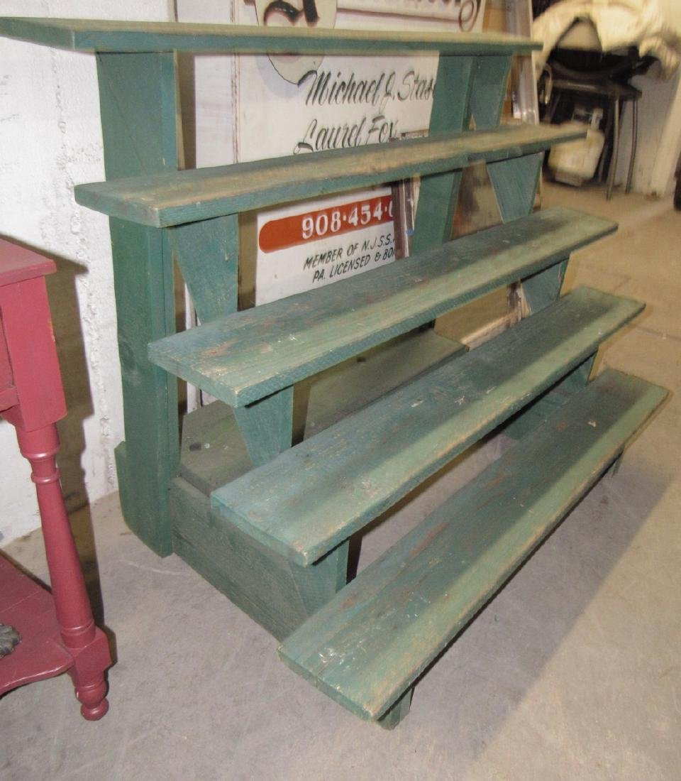 Nice Green Painted 5 Tier Plant Stand - 2