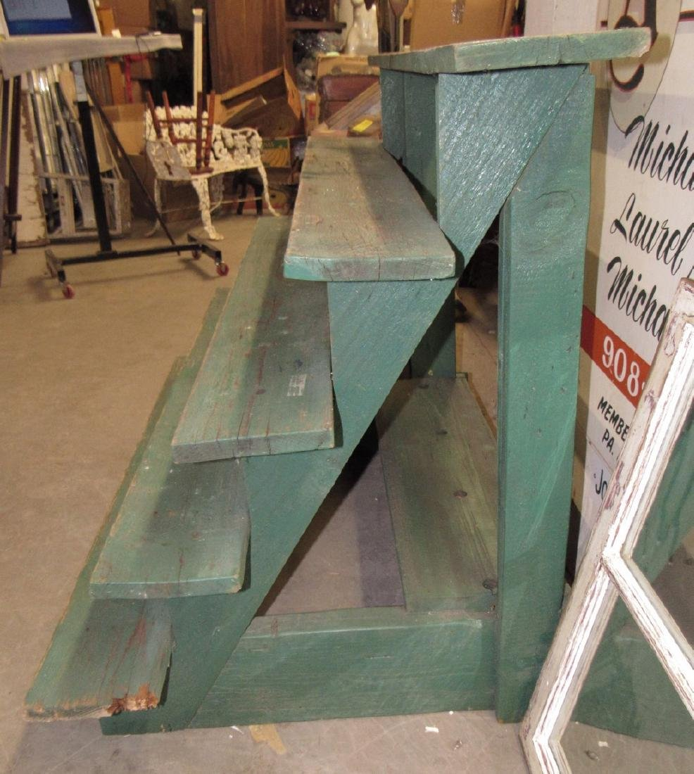 Nice Green Painted 5 Tier Plant Stand - 3