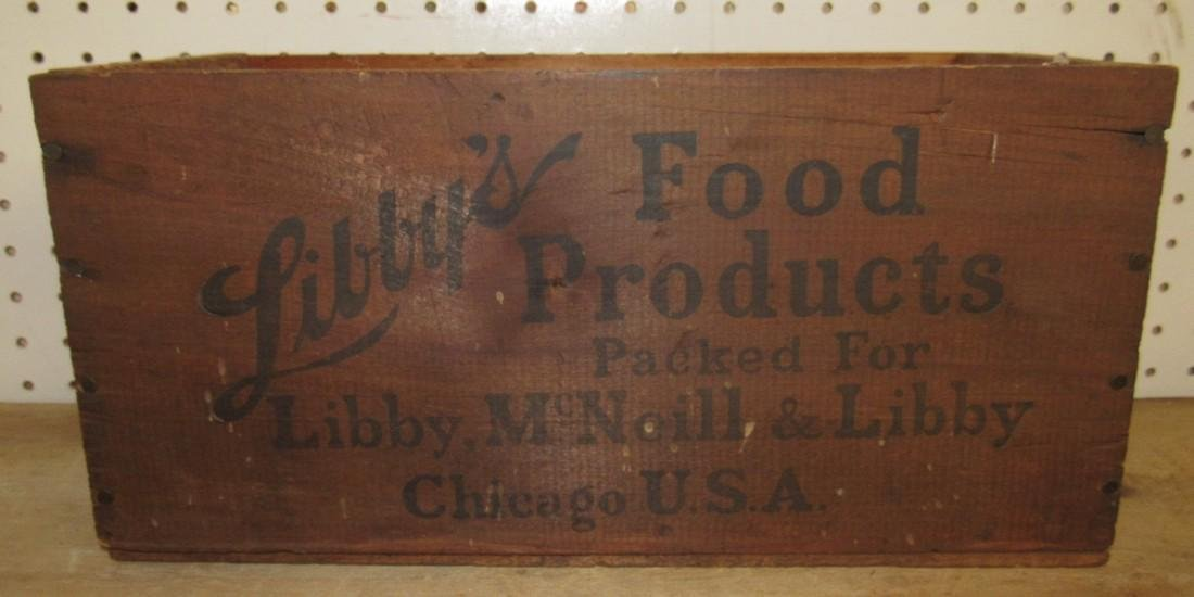 Libby's Food Products Wood Crate