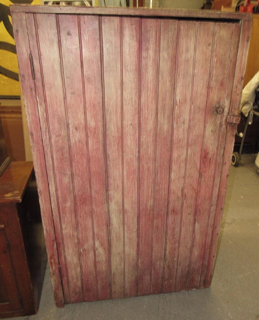 Cupboard in Red Paint