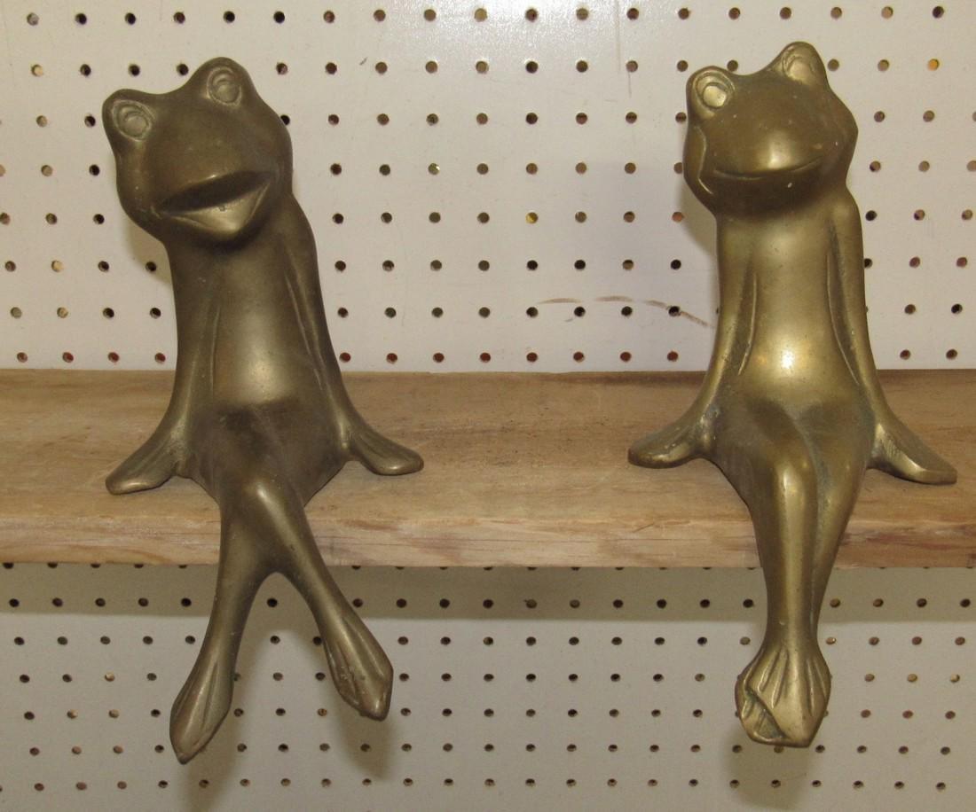2 Brass Frogs