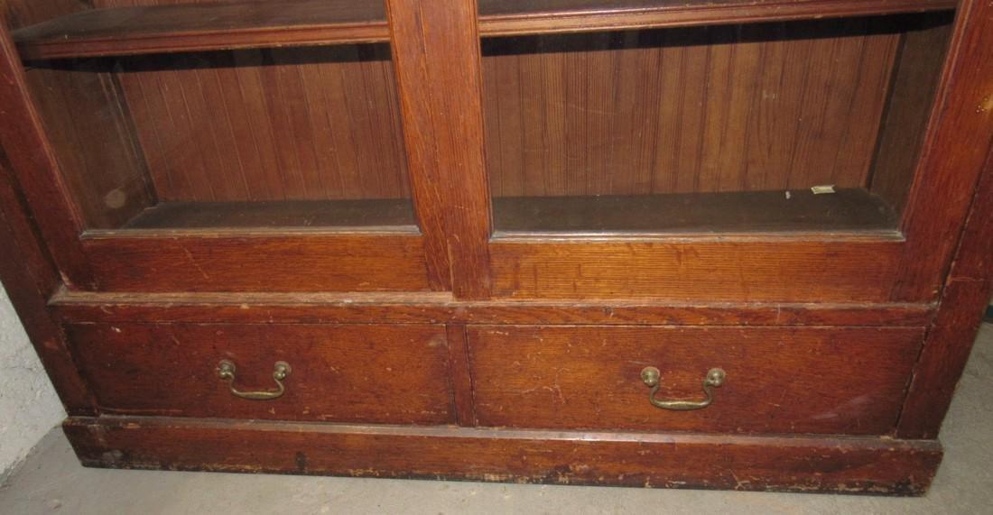 Sliding Door Oak Lawyers Bookcase - 2
